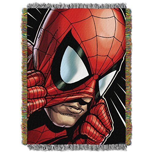 Marvel's Spider-Man, 'Peter Parker' Woven Tapestry Throw Blanket, 48' x 60', Multi Color